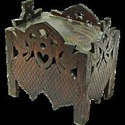 SALE Folk Art Strawberry Carved Storage Box, Ca. 1920-30