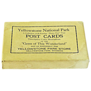 SALE Boxed Set of 50 Yellowstone Park Post Cards, Ca. 1928