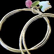 Sterling silver bangles, charmed bangle bracelets, layering bracelets, Camp Sundance, Butterfl