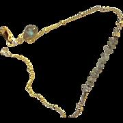 SALE Diamond Bracelet, Layering bracelet, Labradorite charm, Gem Bliss Camp Sundance