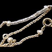 REDUCED Diamond bracelet, layering bracelet, Princess cut Diamonds, bar bracelet, 14K Gold, Ca