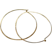 Hoop earrings, Classic Hoops, hand hammered hoops, 2 inch, Gold filled earrings, Sterling Silv