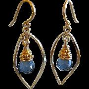 SALE Topaz earrings Blue earrings Gem Bliss Camp Sundance