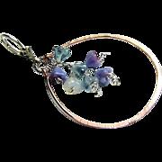 SALE Wisteria cascade earrings, Copper Hoop earrings, Silver Designer earrings, Camp Sundance,
