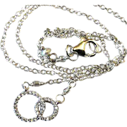 SALE Double happiness Silver necklace Pave CZ Camp Sundance Gem Bliss