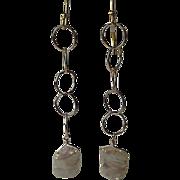 SALE Pearl earrings, wedding earrings, Camp Sundance, long earrings, Gem Bliss