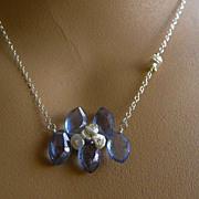 SALE Mystic blue marquis Keshi Pearls Necklace Camp Sundance