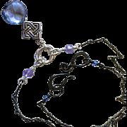 SALE Sky blue Silver necklace Gem Bliss
