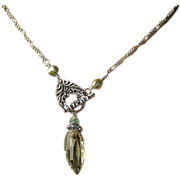 SOLD Green Amethyst necklace, Prasiolite, Silver necklace, Camp Sundance, Gem Bliss