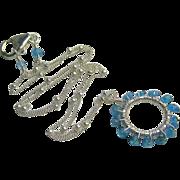 Apatite Eternity necklace, Circle pendant, Caribbean Blue Apatite, Camp Sundance Gem Bliss