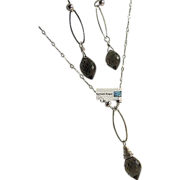 Smoky Quartz, silver solitaire necklace, gift for her, Camp Sundance, Gem Bliss
