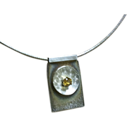 SALE Silver Topaz necklace Omega Chain Gem Bliss