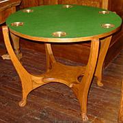 Quartered oak Geo. Hunzinger flip top game/poker  table
