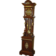 Ornate German Furtwangler tall case clock