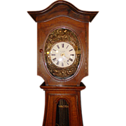 Impressive French tall case clock--Morbier--A. Aubin