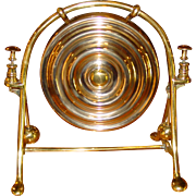 Excellent solid brass English dinner gong----double striker and commanding sound