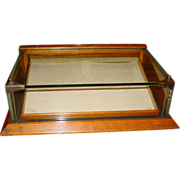 Small size oak & glass chewing gum counter top display case