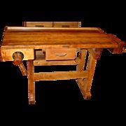 Neat Christiansen carpenter's work bench w 2 vises