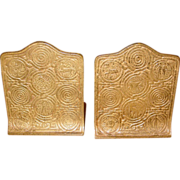 Tiffany Studios bronze bookends - Zodiac pattern
