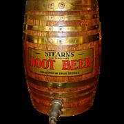 Neat quartered oak STEARNS root beer barrel