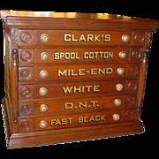 Clark 6 drawer spool cabinet with bird motif