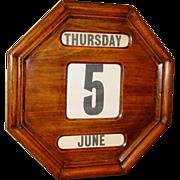 Neat perpetual wall calendar---English---1920s