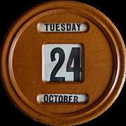 Oak office perpetual wall calendar---1920s---English