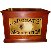 4 drawer J & P Coats spool cabinet-embossed back