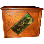 Willimantic 6 drawer spool cabinet with owl