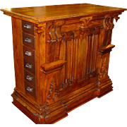 Carved store counter with drawers-both side & back