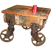 Neat industrial dolly or warehouse cart--small size for table, etc