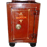 SMALL SIZE antique Queen home valuables safe