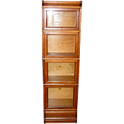 Cute quartered oak half size barrister bookcase---Macey
