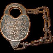 NY New Haven Hartford railroad padlock