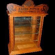 Oak Adams Tutti Frutti chewing gum display case