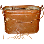Copper minnow bucket-F. Hedges Cynthiana KY