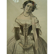 Framed Graceful & Famous Ballet Dancer - Melle Cassegrain Dans Marco Spada No. 8