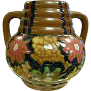 Carl Gebauer German 1910-1920's Arts & Crafts Glazed Majolica Vase