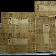 "Vintage German WW2 "" Tourist"" War Ration Stamps"