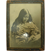 Original Antique B&W Photograph Native American Mother & Child by B.A. Gifford 1905 The ...