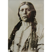 Antique Original B&W Framed Photograph Rose & Hopkins Denver - Native American UTE ...
