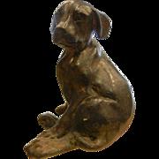 SOLD Vintage Bronze Puppy Dog Statue Figurine