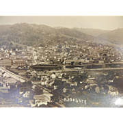 Vintage Original Photograph Postcard of Roseburg Oregon