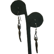 Awesome Modernist Artistic Nude Mannequin Kinetic Sterling Silver Hook Earrings