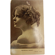 Vintage Original Photograph Postcard of Blanche Sweet