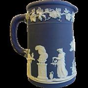 Wedgwood England Blue & White Porcelain Pitcher