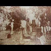 Vintage Original B&W Photograph - Tribal Working Boys