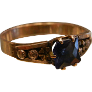 Vintage Gold Filled Ring w/ Blue Stone