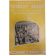 Vintage 1956 New Orleans Tourist Guide Booklet Vol. 26 No. 7