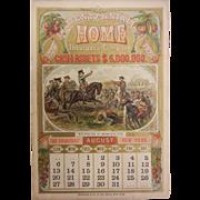 Vintage Centennial Home Insurance Advertisement Calendar August 1876